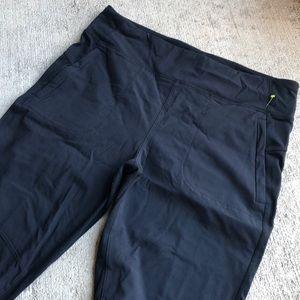 Athleta Highline Hybrid Ankle Tight Pants 12 Black
